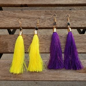 2 for $13 Vibrant Tassel Earrings